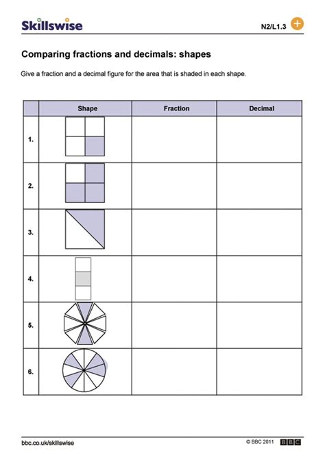Fractions And Decimals Homework Help  Stonewall Services
