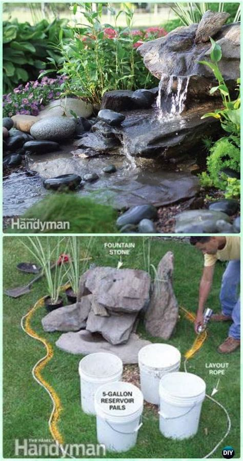 diy water fountains outdoor diy garden fountain landscaping ideas projects diy fountain water fountains and landscaping