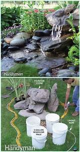 Diy garden fountain landscaping ideas projects diy for Backyard water fountains