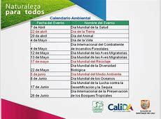 Calendario Ambiental DAGMA 2012