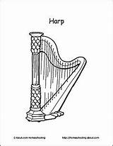 Harp Coloring Musical Terms Digital Basic Celtic Stamp Basics Learn Printouts Charts Lessons Homeschooling Teaching Instrument Techniques sketch template