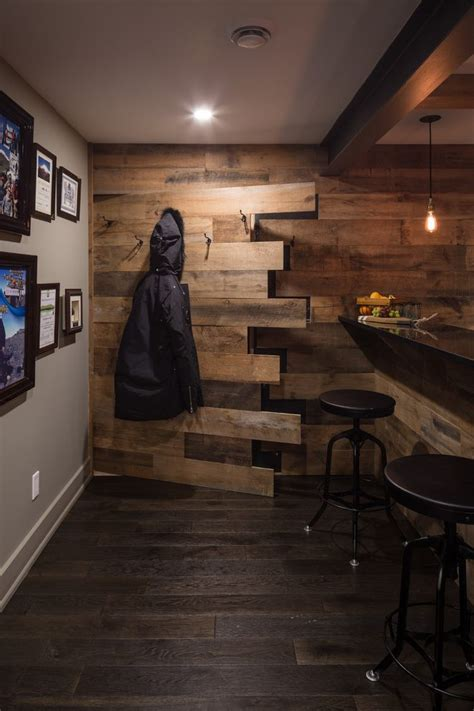 basement ideas basement rustic with reclaimed wood hidden