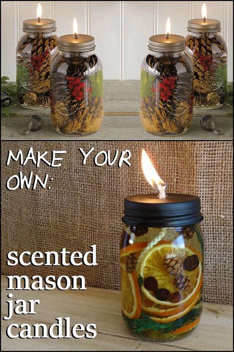 scented mason jar candles diy