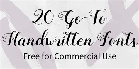 20 Go-to Handwritten Fonts Free For Commercial Use