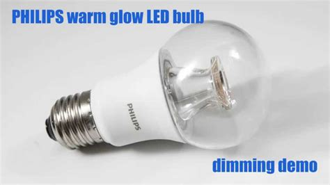 philips warm glow led bulb dimming demo youtube