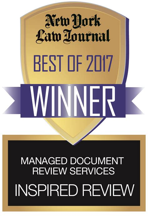 Inspired Review Named Best Managed Document Review Firm By