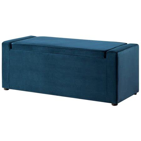 Upholstered Shoe Storage Bench by Jake Blue Velvet Storage Bench Shoe Storage