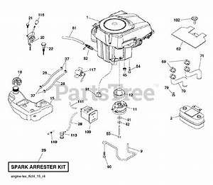 Husqvarna Parts On The Engine Diagram For Gt 52 Xls
