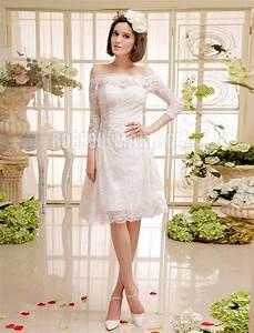 Robe Mi Longue Mariage : manches mi longue robe de de mariage civil robe pas cher robe209200 ~ Melissatoandfro.com Idées de Décoration
