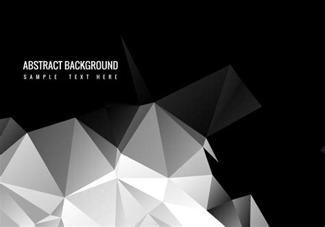 Abstract Black Vector Png by Free Black Polygon Vector Background Free