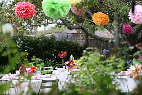 backyard wedding shower ideas