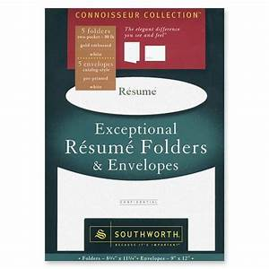 southworth exceptional resume folder with envelope With southworth resume folders and envelopes