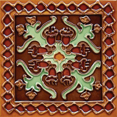 decorative wall tiles solistone painted oaxaca deco 6 in x 6 in ceramic