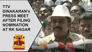RK Nagar By-Election: TTV Dinakaran's Press Meet after ...