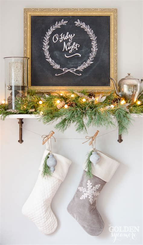 Country Dining Room Decorating Ideas Pinterest by Christmas Chalkboard Art My Fake Mantel The Golden