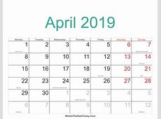 april 2019 calendar with holidays 2018 calendar printable