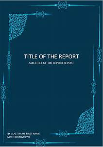 Cover Page Of Report Template In Word Cover Page Download Template For Ms Word Elegant