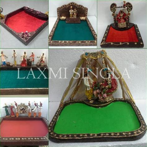 indian wedding theme saree packing trays paper mache