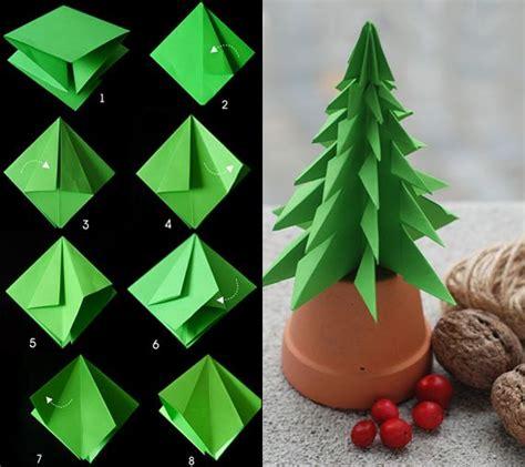 Tannenbaum Falten Aus Verschiedenen Materialien by Tannenbaum Falten Aus Verschiedenen Materialien Tinker