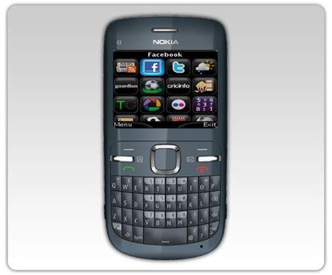 mobile phones nokia c3 apps snaptu