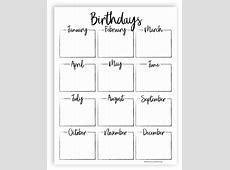 Best 25+ Family birthday calendar ideas on Pinterest