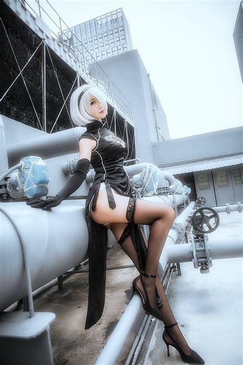 yorha 2b cosplay [nier automata] kamikazemonk