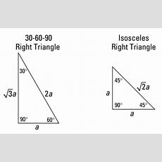 F(t) Special Right Triangles