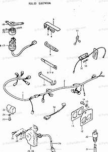 Suzuki Motorcycle 1975 Oem Parts Diagram For Electrical