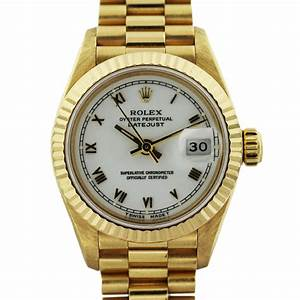 Rolex Datejust 6917 Presidential Yellow Gold Ladies Watch ...