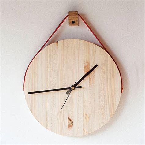 wooden hanging wall clock  factorytwentyone