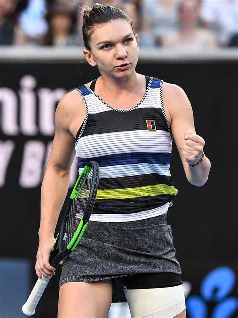 Australian Open 2019: Simona Halep survives scare to beat Sofia Kenin to advance - BBC Sport