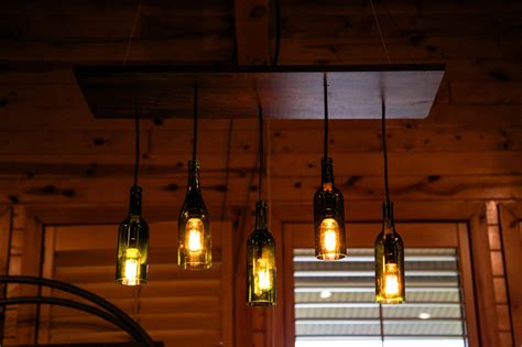 wine bottle edison chandelier