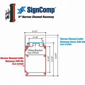 signcomp 5in narrow channel letter raceway results page 1 With channel letter raceway extrusion