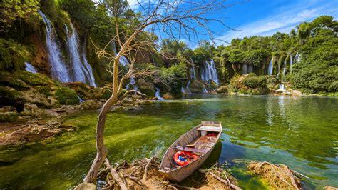 waterfall kravice  bosnia  herzegovina beautiful