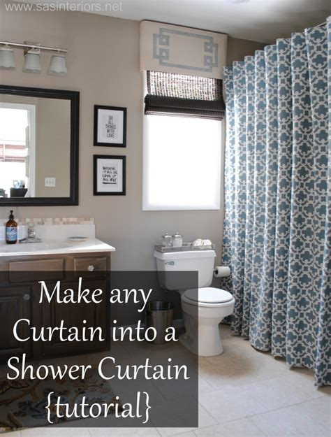 how to make any curtain into a shower curtain burger