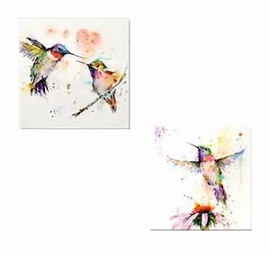 Tableau Moderne Coloré : flying birds color tableau moderne ~ Teatrodelosmanantiales.com Idées de Décoration