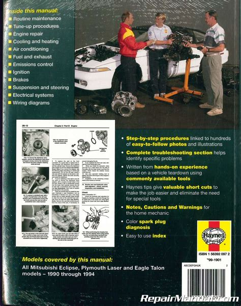 how to download repair manuals 1991 eagle talon electronic toll collection 1990 1994 haynes mitsubishi eclipse plymouth laser eagle talon auto repair manual