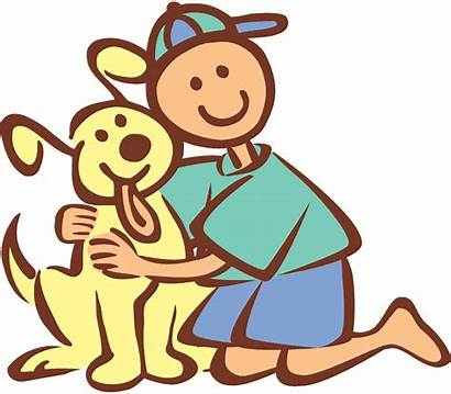 Cartoon Clipart Boy Hugging Friends Dogs Dog