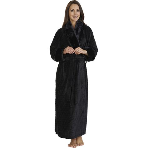 robes de chambre femme slenderella fleece wrap dressing gown faux fur