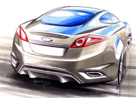ford iosis concept design sketch  andrea  buduo