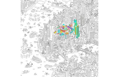 livre cuisine enfants coloriage géant ville de york omy