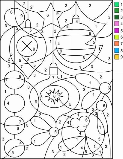 Christmas Number Coloring Nicole Pages Numbers Adults