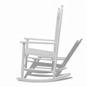 Chaise à Bascule Pas Cher : acheter fauteuil bascule blanc bois chaise relaxation pas cher ~ Teatrodelosmanantiales.com Idées de Décoration