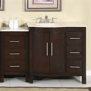 adelina 54 inch contemporary style bathroom vanity cream