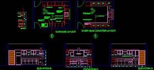 Kitchen Detail In Autocad