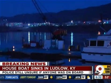 pontoon boat sinks in ohio river houseboat sinks into ohio river near ludlow story