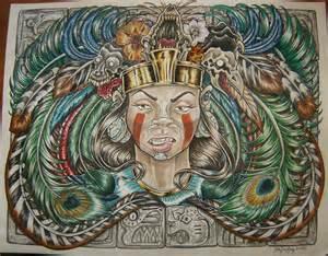 Aztec Warrior and Princess Drawing