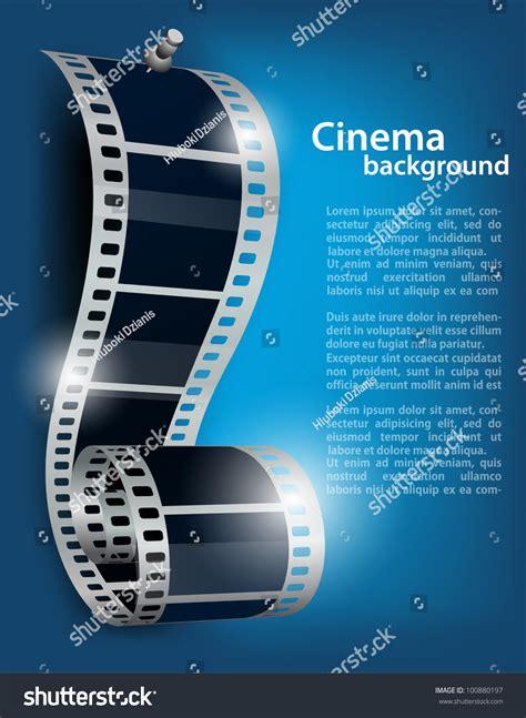 film reel stud  blue background stock vector