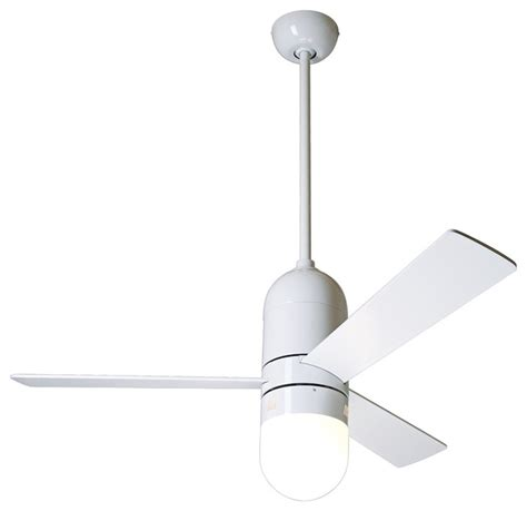 Modern White Ceiling Fans by 42 Quot Modern Fan Gloss White Cirrus With Light Ceiling Fan
