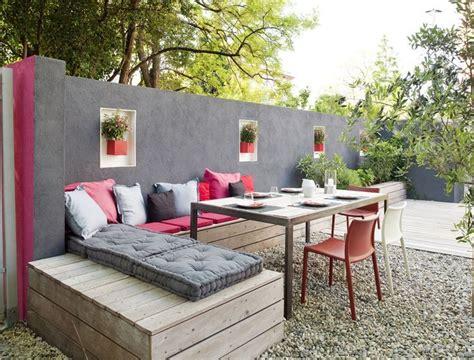 plans amenagement terrasse realiser une banquette